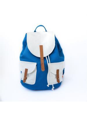 Городской рюкзак TIMBAG. Цвет: синий, белый, прозрачный