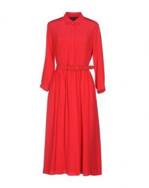Платье длиной 3/4 ALEXANDER TEREKHOV. Цвет: красный