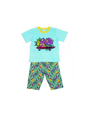 Пижама Модамини. Цвет: серо-зеленый, голубой