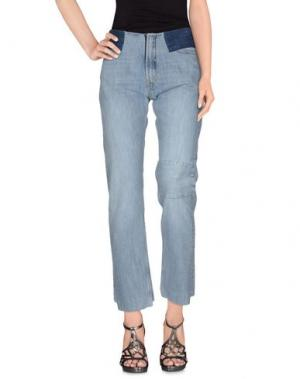 Джинсовые брюки ARIES. Цвет: синий