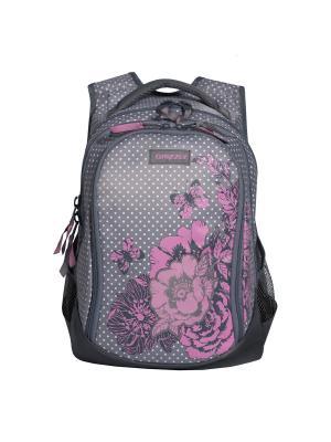 Рюкзак Grizzly. Цвет: серый, розовый