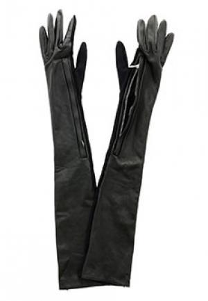 Перчатки SCERVINO STREET. Цвет: черный