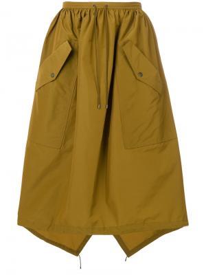 Пышная юбка с карманами Kenzo. Цвет: none