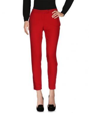 Повседневные брюки SOALLURE. Цвет: красный