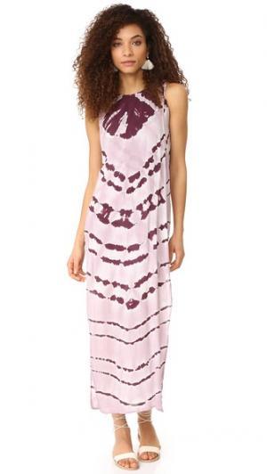 Макси-платье Amara Young Fabulous & Broke. Цвет: полоска цвета пино