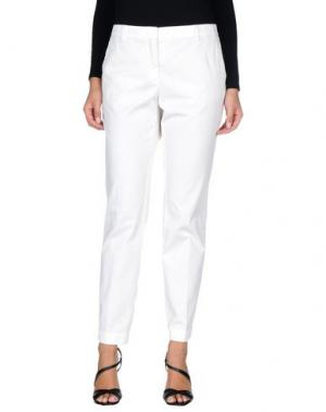 Повседневные брюки MALÌPARMI. Цвет: белый