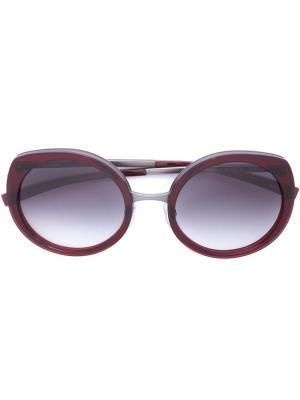 Солнцезащитные очки Jil Sander. Цвет: красный