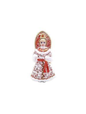 Кукла Снегурочка 35,5 см, красн.+бел. Новогодняя сказка. Цвет: красный