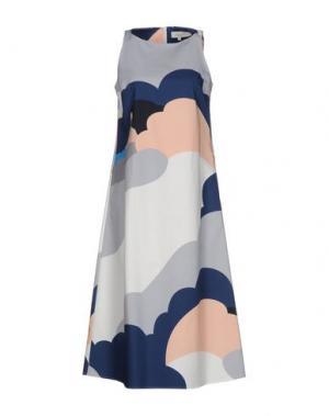 Платье длиной 3/4 PAUL & JOE. Цвет: светло-серый
