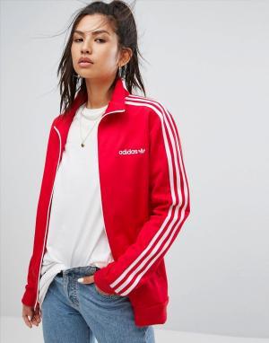 Adidas Originals Красная спортивная куртка. Цвет: красный