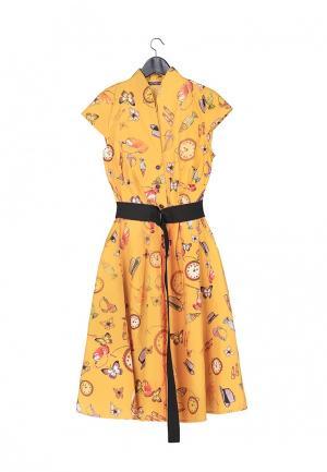 Платье Artwizard. Цвет: желтый