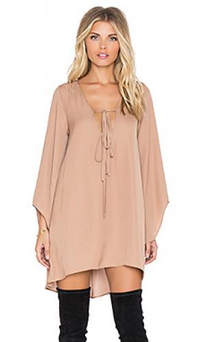 Платье birkin The LDRS. Цвет: коричневый