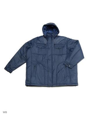 Куртка OLSER. Цвет: синий