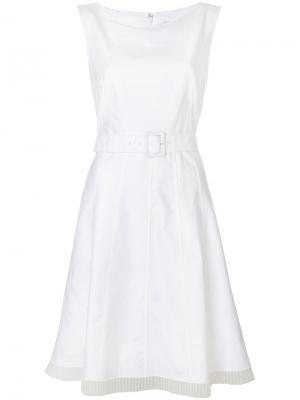 Плиссированное платье с поясом Marc Jacobs. Цвет: телесный