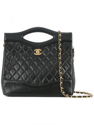 Turn-lock 2way square bag Chanel Vintage. Цвет: чёрный