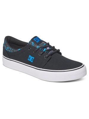 Кеды DC Shoes. Цвет: черный, голубой