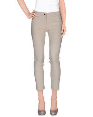 Повседневные брюки FLY GIRL. Цвет: светло-серый