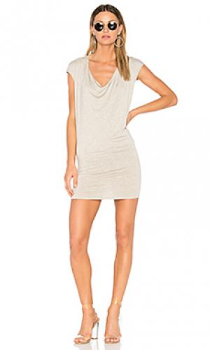 Мини платье с драпировкой спереди waylon Riller & Fount. Цвет: светло-серый
