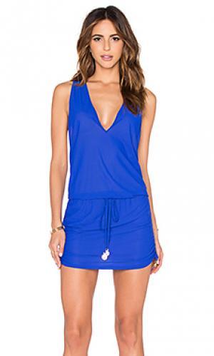 Мини платье cosita buena Luli Fama. Цвет: синий