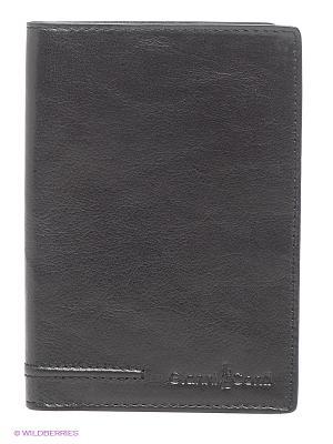 Обложка для паспорта Gianni Conti. Цвет: черный