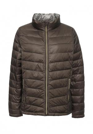 Куртка утепленная Emoi Size Plus. Цвет: хаки