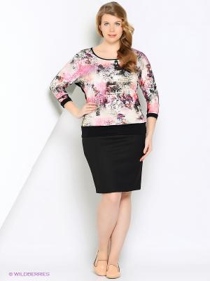 Блузка VAY. Цвет: розовый