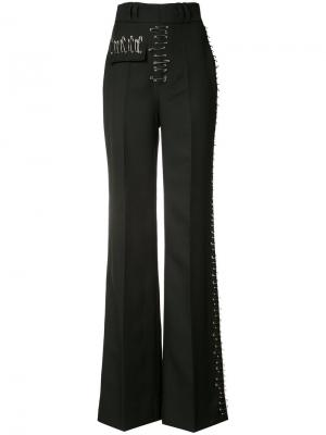 Pin detail flared trousers Rodarte. Цвет: чёрный