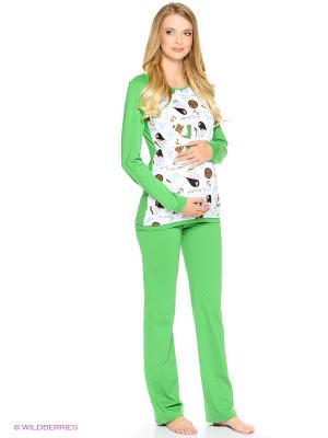 Пижама impressmama. Цвет: зеленый