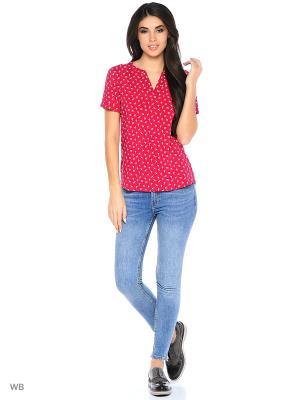 Блузка TOM TAILOR. Цвет: красный