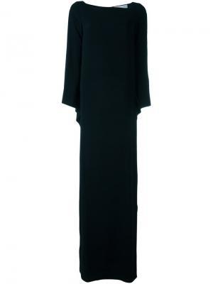 Платье макси со шлицами Gianluca Capannolo. Цвет: чёрный
