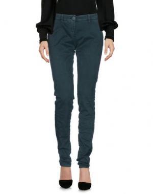 Повседневные брюки UZÈS. Цвет: зеленый
