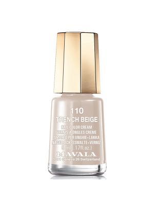 Лак для ногтей тон 110 Trench Beige Mavala. Цвет: серый