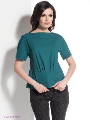 Блузка Levall. Цвет: зеленый