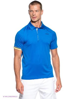 Футболка-поло Pace Poloshirt Button HEAD. Цвет: синий