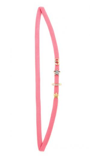 Обруч Soda Lids с английской булавкой Marc Jacobs. Цвет: розовый мульти