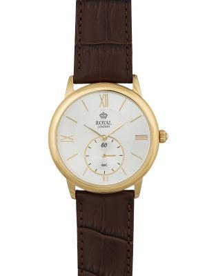 Часы Royal London 41041-03. Цвет: коричневый,золотистый