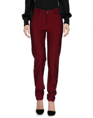 Повседневные брюки WEILI ZHENG. Цвет: красно-коричневый