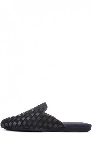 Домашние туфли без задника Homers At Home. Цвет: темно-синий
