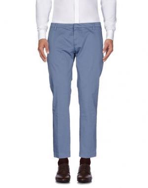 Повседневные брюки MASSIMO BRUNELLI. Цвет: пастельно-синий