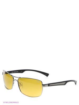 Солнцезащитные очки Legna. Цвет: зеленый, серебристый