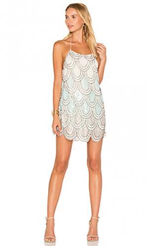 Платье dame NBD. Цвет: кремовый