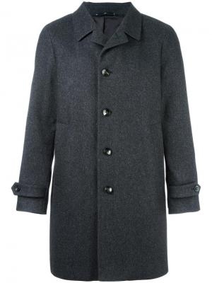 Однобортное пальто Hevo. Цвет: серый