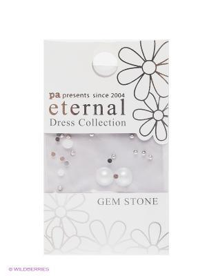 Стразы-камушки для ногтей Белый Премиум Жемчуг ETERNAL Dress Collection Gem Stone Primа Pearl PA presents since 2004. Цвет: серебристый