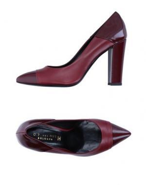 Туфли G.P. PER NOY BOLOGNA. Цвет: красно-коричневый