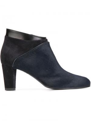 Ботинки по щиколотку на массивном каблуке Carritz. Цвет: синий