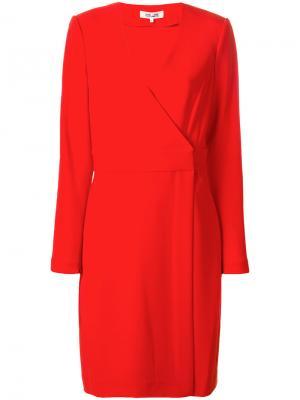 Приталенное платье с запахом Diane Von Furstenberg. Цвет: красный