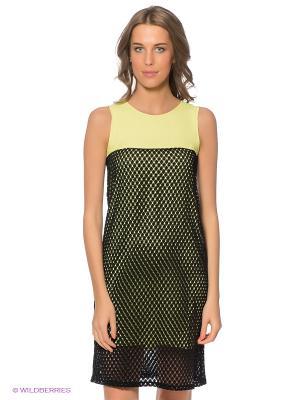 Платье DOCTOR E. Цвет: черный, желтый