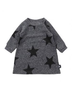 Платье NUNUNU. Цвет: серый