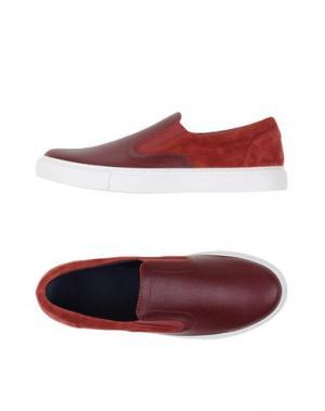 Низкие кеды и кроссовки FABIANO RICCI. Цвет: красно-коричневый