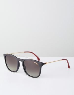 Carrera Черные солнцезащитные очки с планкой сверху. Цвет: черный